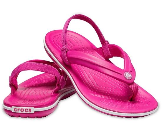 CROCS crocband strap flip 205777 candy pink
