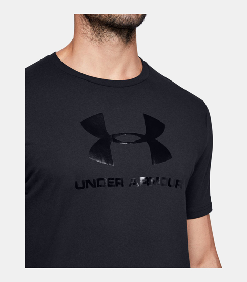 Picture of UNDER ARMOUR m majica kr 1351618-001 CLEAR LOGO