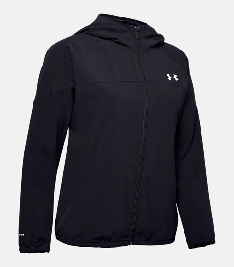 Picture of UNDER ARMOUR ž jopica 1351794-001 WOVEN BRANDED FULL ZIP HOODIE