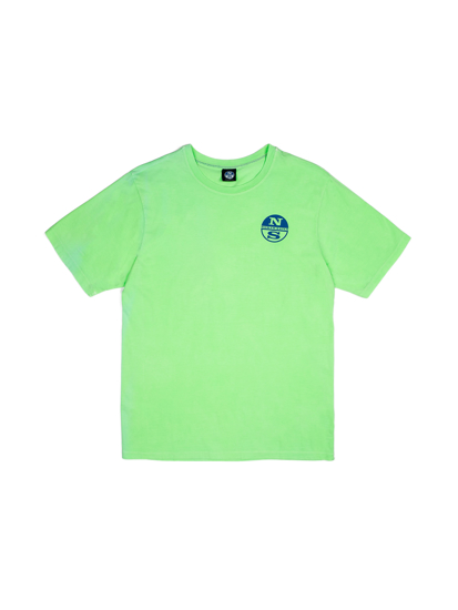 Picture of NORTH SAILS m majica kr 692566 0556 S/S WGRAPHIC GREEN FLUO