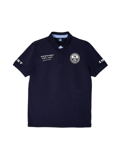 Picture of NORTH SAILS m polo majica kr 692259 0802 COTTON PIQUÉ POLO SHIRT NAVY