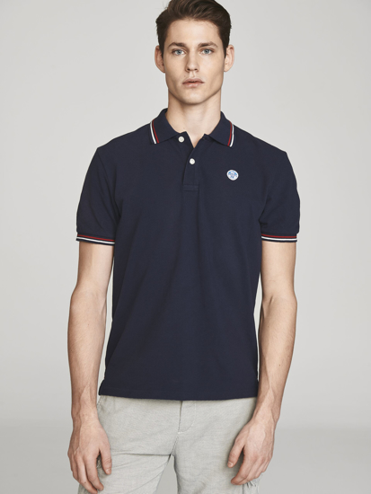 Picture of NORTH SAILS m polo majica kr 692244 0802 COTTON PIQUÉ POLO NAVY BLUE