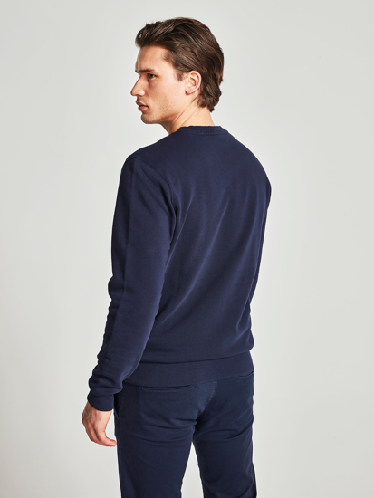 Picture of NORTH SAILS m pulover 691484 0802 ORGANIC COTTON SWEATSHIRT NAVY BLUE