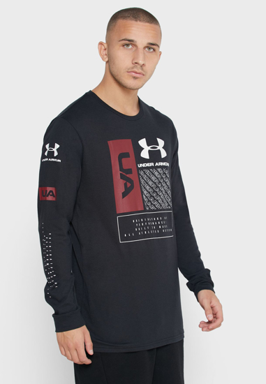 UNDER ARMOUR m majica 1351623-001 MULTI LOGO