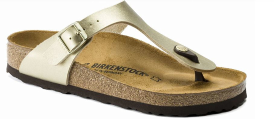 BIRKENSTOCK natikači 1016109 GIZEH - narrow - gold