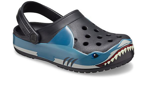 CROCS Fun Lab Shark Band Clog 206271 black