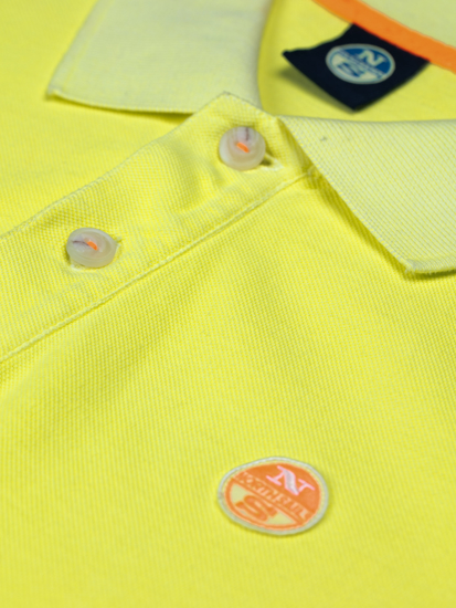 NORTH SAILS m polo majica kr 692272 0554 PIQUÉ yellow fluo