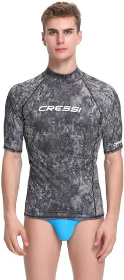 Picture of CRESSI m uv majica XLW478702 RASH GUARD uv CAMO BLACK