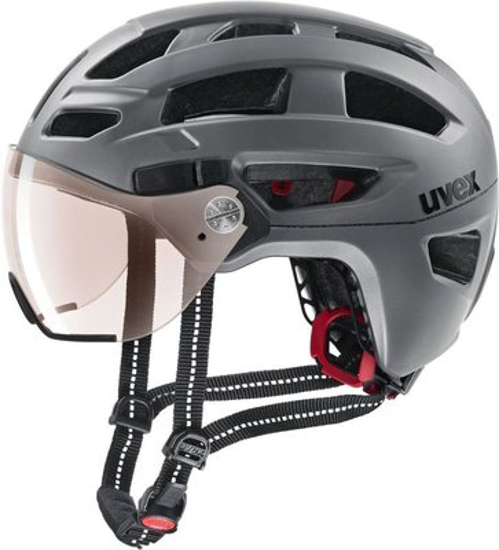 Picture of UVEX odr kolesarska čelada 4109770117 FINALE VISOR strato steel