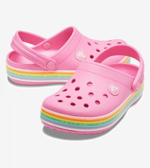 Picture of CROCS crocband 206151 669 pink rainbow glitter