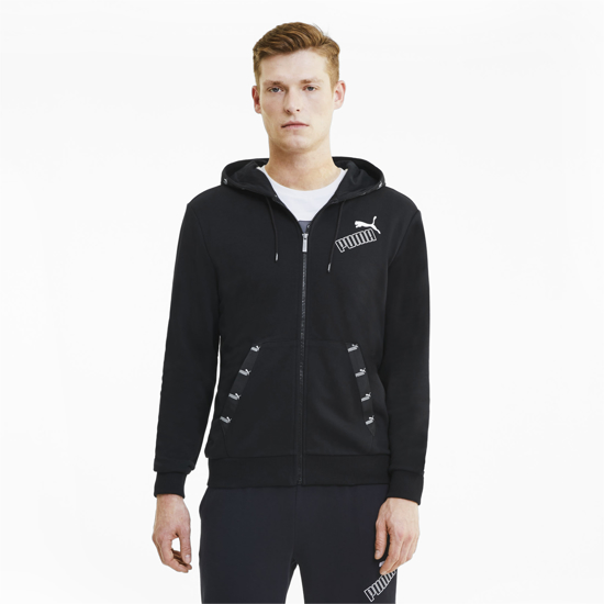 Picture of PUMA m jopica 583524-01 AMPLIFIED FULL ZIP HOODIE