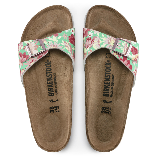 Picture of BIRKENSTOCK natikači 1016772 MADRID - narrow - flower emeral
