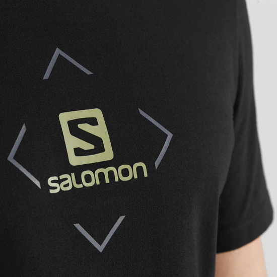 Picture of SALOMON m majica LC1407600 COTTON LOGO TEE