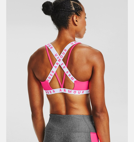 Picture of UNDER ARMOUR ž trening top 1325613-653 WORDMARK STRAP