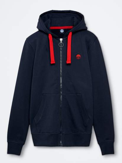 Picture of NORTH SAILS m jopica 691545 0802 COTTON HOODIE