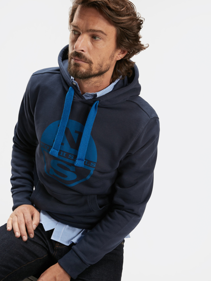 Picture of NORTH SAILS m kapucar 691543 0802 COTTON HOODIE