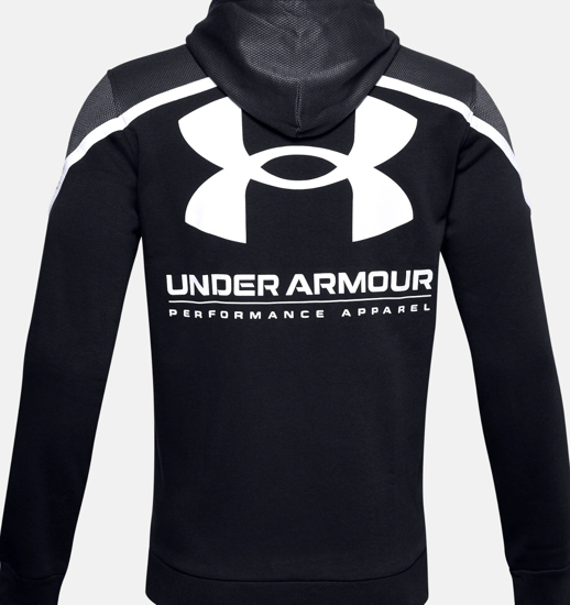 Picture of UNDER ARMOUR m kapucar 1357090-001 RIVAL FLEECE AMP HOODIE