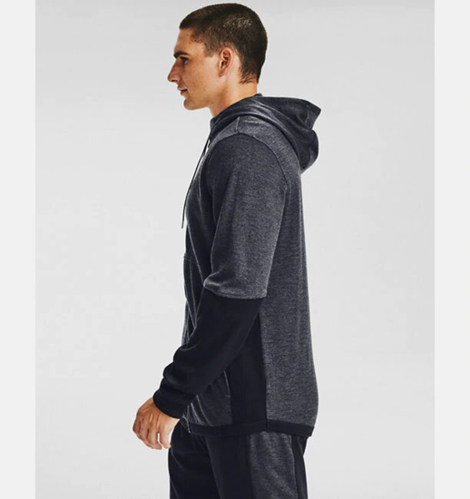 Picture of UNDER ARMOUR m jopica 1352012-012 DOUBLE KNIT FULL ZIP HOODIE
