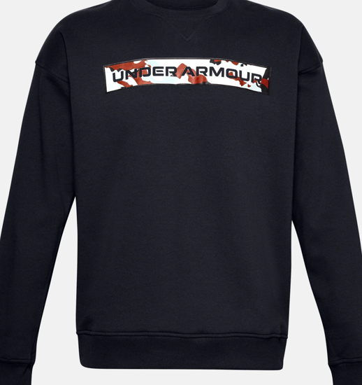 Picture of UNDER ARMOUR m pulover 1357097-001 RIVAL FLEECE CAMO WORDMARK CREW