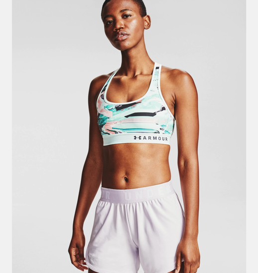 Picture of UNDER ARMOUR ž trening top 1307213-403 MID CROSSBACK PRINT