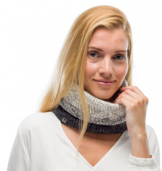 BUFF šal 120856.937.10 KNIT POLAR MASHA GRAY