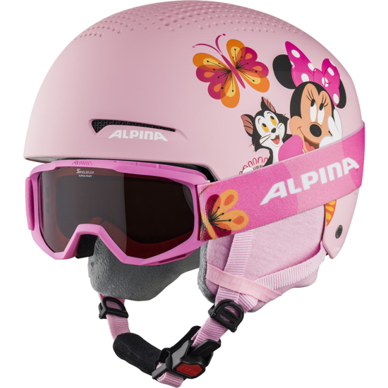Picture of ALPINA otr smučarska čelada + očala 0-9231-151 ZUPO DISNEY SET Minnie Mouse
