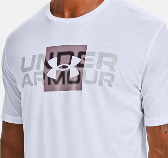 UNDER ARMOUR m majica 1357156-100 BOX LOGO WORDMARK