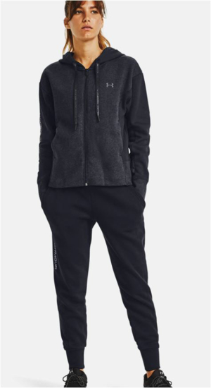 Picture of UNDER ARMOUR ž jopica 1362419-001 RIVAL FLEECE EMB FZ