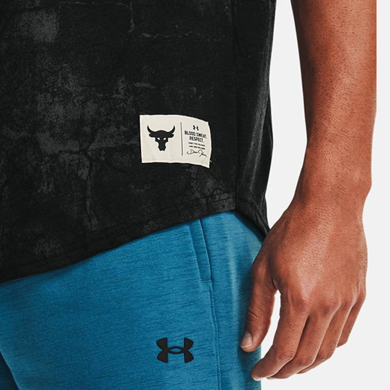 UNDER ARMOUR m majica 1357189-001 PROJECT ROCK DISRUPT