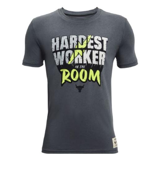 UNDER ARMOUR otr majica 1361865-012 PROJECT ROCK HARDEST WORKER