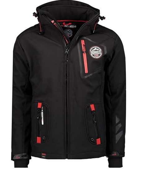 Picture of GEOGRAPHICAL NORWAY m softshell TACEBOOK black