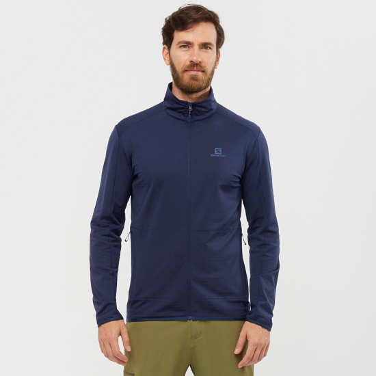 Picture of SALOMON m midlayer LC1492400 OUTRACK FULL ZIP
