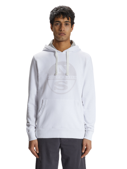 Picture of NORTH SAILS m kapucar 691574 0101 HOODED SWEATER
