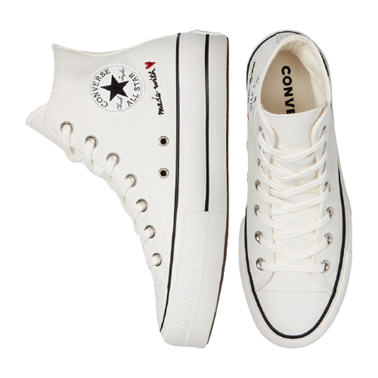Picture of ALL STAR chuck taylor lift 571119C VINTAGE WHITE/EGR