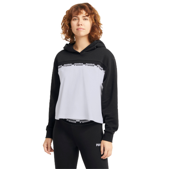 Picture of PUMA ž kapucar 585909-01 AMPLIFIED CROPPED HOODIE